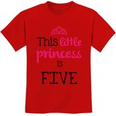 TeeStars This Little Princess Is Five 5 Years Old Girl Birthday Youth Kids T-Shirt