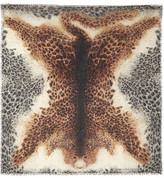 Alexander McQueen Leopard-print Silk And Modal-blend Scarf - Leopard print