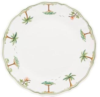 Zdg - Safari Hand-painted Faience-ceramic Dinner Plate - White Multi