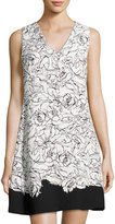 Cynthia Steffe Jillian Split-Back Dress, White/Black