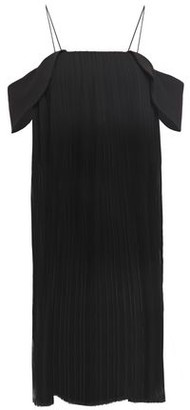 Nicholas Cold-shoulder Crepe-trimmed Plisse-georgette Midi Dress