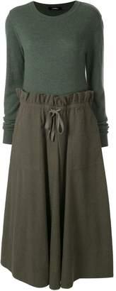 GOEN.J panelled jumper dress