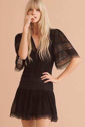 Vivette Lace Mini Dress By Magali Pascal in Black Size XS