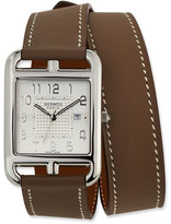 Hermes Large Cape Cod GM Watch with Taupe Leather Strap