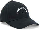 The Upside Embroidered Cotton-canvas Baseball Cap - Midnight blue