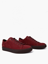Lanvin Red Suede Sneakers