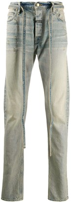 Fear Of God Stonewashed Straight-Leg Strings Jeans