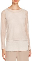Eileen Fisher Petites Layered Look Sweater