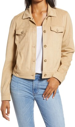 Tommy Bahama Salina Sands Faux Suede Trucker Jacket
