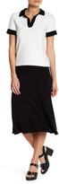 Caslon A-Line Knit Midi Skirt (Petite)