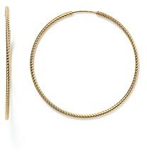 Bloomingdale's 14K Yellow Gold Twisted Endless Hoop Earrings - 100% Exclusive