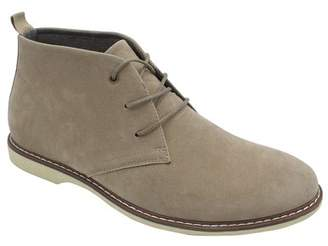 Mario Lopez Men's Micro Suede Formal Dress Casual Ankle Boot Lace Up