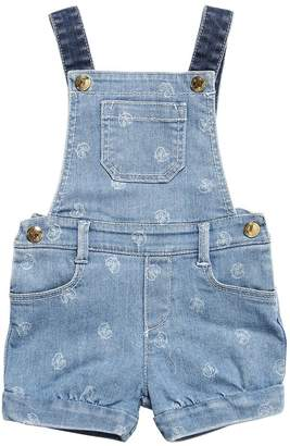 Chloé STRETCH COTTON DENIM OVERALLS