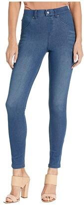 Hue High-Waist Ultra Soft Denim Leggings (Black/Indigo Wash) Women's Jeans