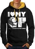 Love Girlfriend Funny Men XL Contrast Hoodie | Wellcoda