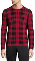HUGO BOSS Men's Plaid Wool Sweater