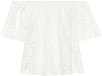 Stella McCartney Lace off-the-shoulder top
