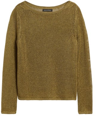 Banana Republic Linen-Blend Boat-Neck Sweater
