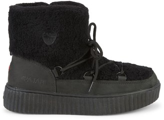 Pajar Ewa Shearling-Trimmed & Faux Fur-Lined Nubuck Winter Boots