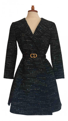 Christian Dior Grey Wool Coats