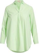 Fresh Produce Women's Tunics ALE - Light Green Collar-Accent V-Neck Tunic - Women