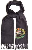 Burberry Unisex logo-crest cashmere scarf