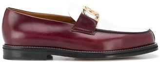 Lanvin Two-Tone Loafers