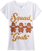 """Freeze Girls 7-16 Squad Goals"""" Gingerbread Cookie Graphic Tee"""