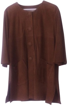 Tara Jarmon Brown Suede Trench Coat for Women