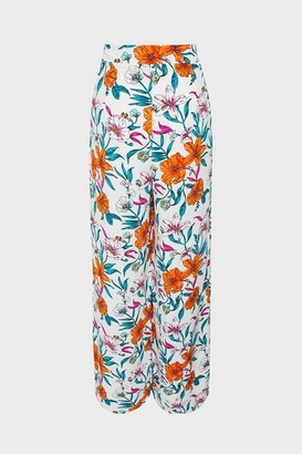 Coast Tropical Printed Wide Leg Trouser