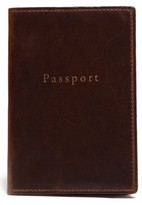 Moore & Giles Men's Leather Passport Case - Brown