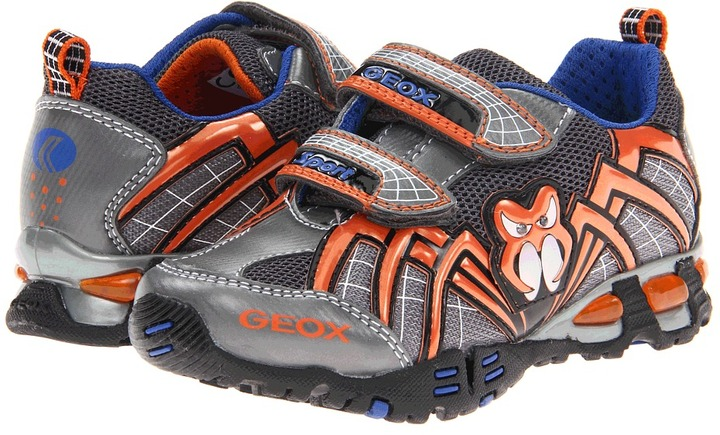 Geox Kids - Jr Light Eclipse 12 (Toddler/Little Kid) (Grey/Orange) - Footwear