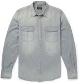 Jean Shop Slim-Fit Washed-Denim Shirt