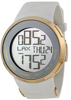 Gucci Men's I YA114216 White Rubber Swiss Quartz Watch with Dial