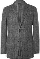 Ermenegildo Zegna - Grey Slim-fit Checked Brushed Alpaca-blend Blazer
