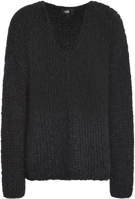 Line Open-knit Wool-blend Sweater
