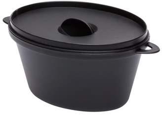 Restaurantware Large Kettle Dish, Plastic Kettle, Kettle with Lid - 12 oz - Premium Plastic - Black - Disposable - 100ct Box