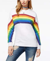 Carbon Copy Rainbow-Graphic Fleece Sweatshirt