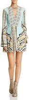 Free People Tegan Border-Print Mini Dress