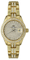 Toy Watch Toywatch Ladies Metallic Goldtone and Crystal Watch