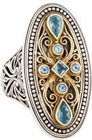 Konstantino Topaz Shield Ring