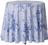 April Cornell Blue-Rose Round Tablecloth