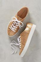 Anthropologie Raphaella Booz Metallic Cork Sneakers