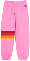 Aviator Nation Block-Striped Sweatpants-PINK