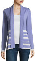Liz Claiborne Long Sleeve Ribbon Trim Open Front Cardigan