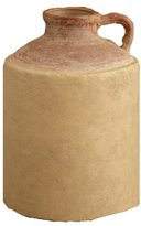 Your Hearts Delight Distressed Pottery Jug, 11 by 8-Inch, Burgundy/Tan