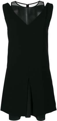 Neil Barrett mesh neckline dress