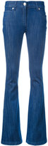 Pierre Balmain logo plaque flared jeans - women - Cotton/Polyurethane - 26