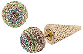 Betsey Johnson Sweet Shop Ice Cream Cone Front Back Earrings