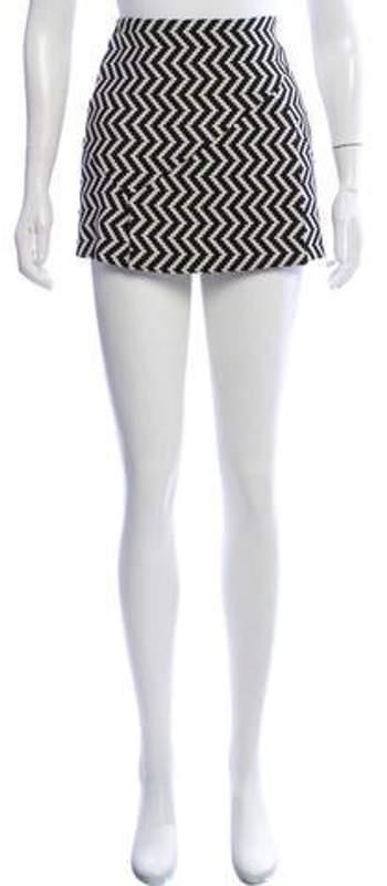 Neil Barrett Patterned Wool-Blend Skirt Black Patterned Wool-Blend Skirt
